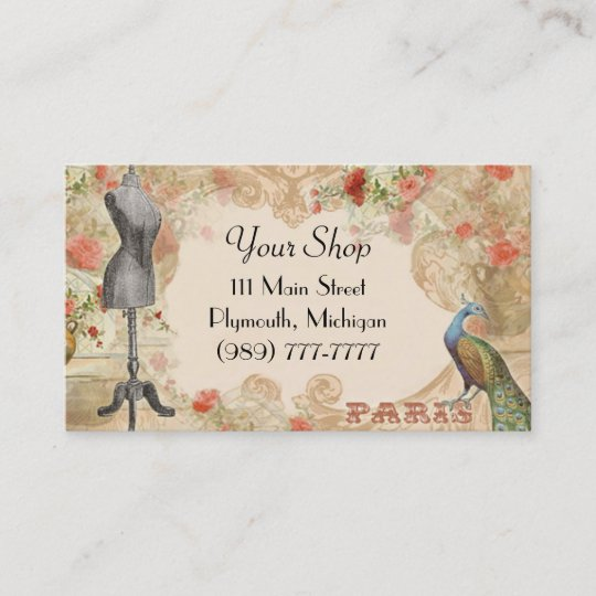 Victorian Vintage Seamstress Business Card Zazzle Com