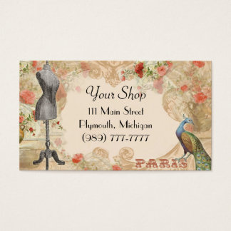 Victorian Vintage Seamstress Business Card