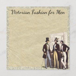 Victorian Vintage Steampunk Men's Fashion Top Hats Card