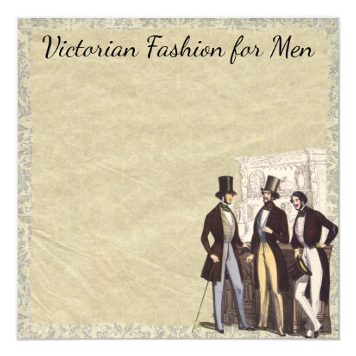 Victorian Vintage Steampunk Men's Fashion Top Hats Card
