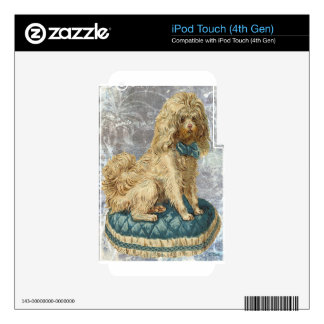 Victorian Vintage White Poodle iPod Touch 4G Decals