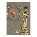 "Victorian Wallpaper And Lady 5"" X 7"" Invitation Card"