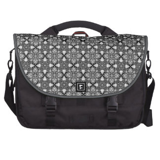 Victorian Wallpaper Design in Black and White Commuter Bag