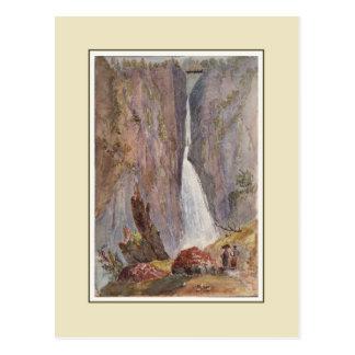 Victorian watercolor postcard