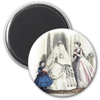 Victorian Wedding 1 Round Magnet