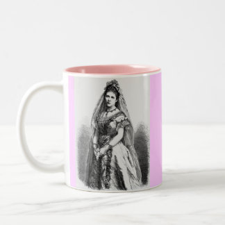 Victorian Wedding Clothing Two-Tone Coffee Mug