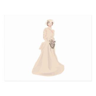 Victorian Wedding Dress Post Card