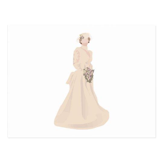 Victorian Wedding Dress Postcard