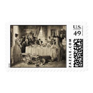 Victorian Wedding Feast Postage Stamp