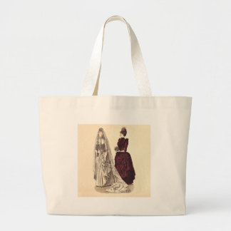 Victorian wedding gown canvas bags
