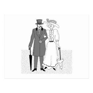 Victorian Wedding Guests Postcard
