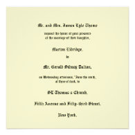 Victorian Wedding Invitation Circa 1905