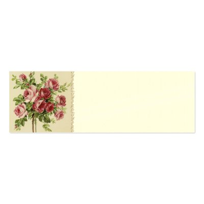 Victorian Wedding Place Setting Cards Business Card Template by
