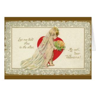 Victorian Wedding Proposal Valentine Greeting Card