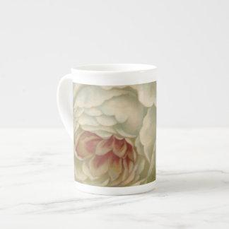 Victorian White Dove Nightime Sky Bone China Mug