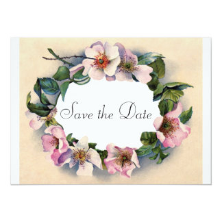 Victorian Wild Roses Save the Date Card
