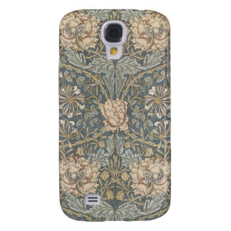 Victorian William Morris Floral Textile Pattern Samsung Galaxy S4 Covers