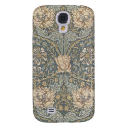 Victorian William Morris Floral Textile Pattern Galaxy S4 Case