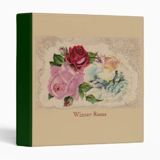 Victorian Winter Roses Binder