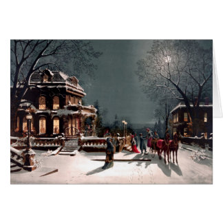 Victorian Winter Thank You Card