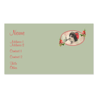 Victorian Woman Business Card