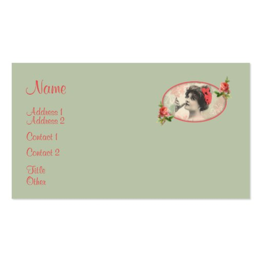 Victorian woman business card zazzle for Business cards for women