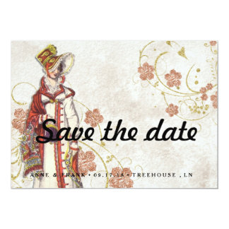 Victorian Woman Card