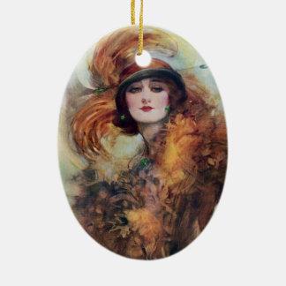 Victorian Woman Ceramic Ornament