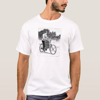 Victorian Woman Cycling - Vintage Bicycles T-Shirt