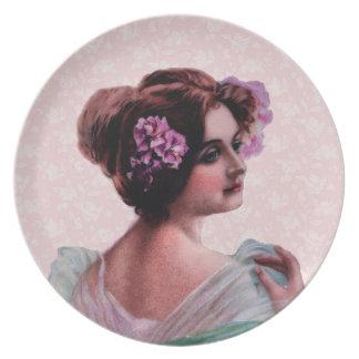 Victorian Woman Dinner Plate