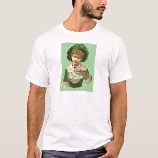 Victorian Woman Green T-Shirt