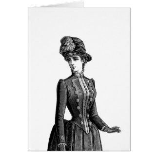 Victorian Woman in Hat Card