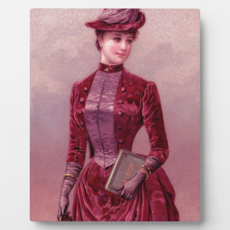 Victorian Woman In Velvet Plaque