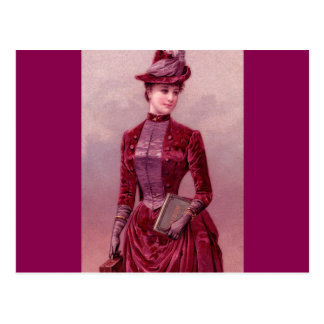 Victorian Woman In Velvet Postcard