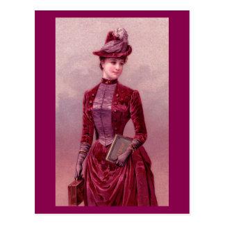 Victorian Woman In Velvet Post Cards