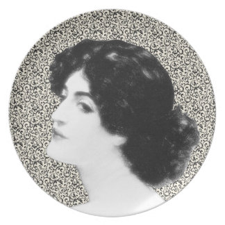 Victorian Woman Melamine Plate