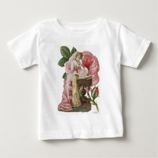 Victorian Woman Pink Dress Roses