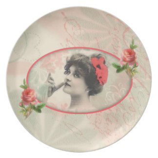 Victorian Woman Plate