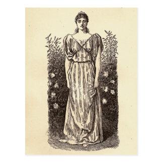 Victorian Woman Postcard