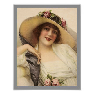 Victorian Woman Poster