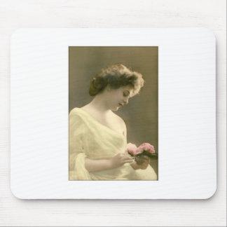 victorian woman retrospective romantic mouse pad