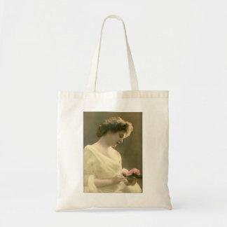 victorian woman retrospective romantic tote bag