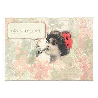 Victorian Woman Save The Date Card