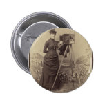 Victorian Woman taking a photo 2 Inch Round Button
