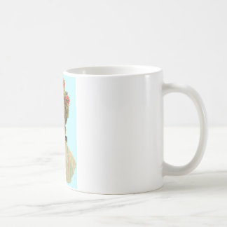 Victorian Woman Teal Coffee Mug