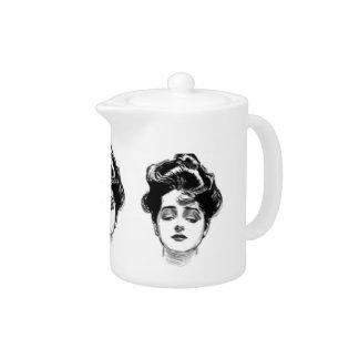 Victorian Woman Teapot