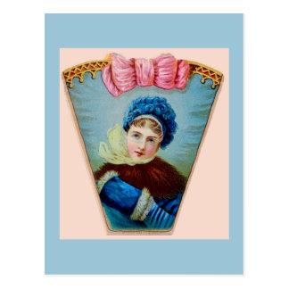 Victorian Woman Winter Postcards
