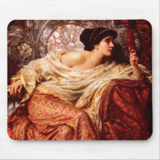 Victorian Woman with a Mirror Classic Fine Art Mouse Pad