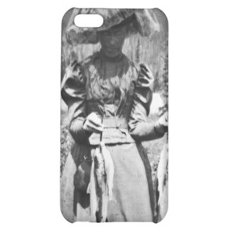 Victorian Woman with Fish Vintage Glass Slide iPhone 5C Case