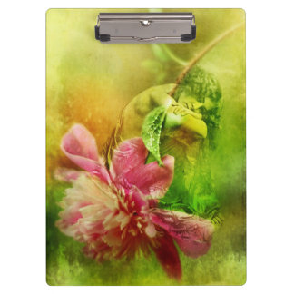 Victorian Woman with Pink Peony Clipboards